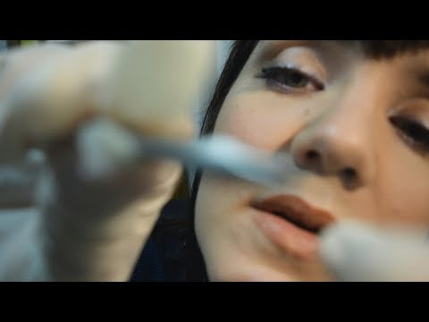 ASMR Dermatologist Exam - Extractions, Latex Gloves, Gentle Speaking