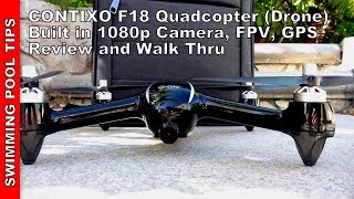 Contixo F18 RC Quadcopter (Drone) 1080P HD Live FPV Video,  Advanced GPS Assisted Hovering
