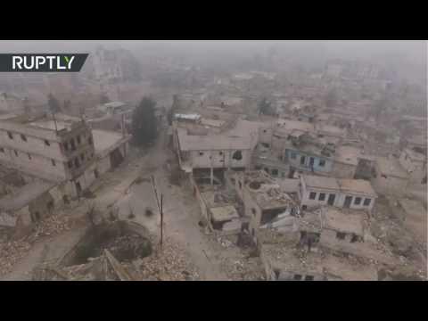 Un dron captura la devastación de Alepo al detalle