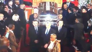 RAY J BREAKS DOWN TOUCHING  Whitney Houston's Casket exiting (SAD)