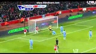 Arsenal vs West Ham 1/23/13 Highlights