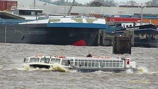 Emder Hafen Hafenrundfahrt mit RATSDELFT bei stürmischem Wetter Binnenhafen Emden