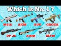 Top 10 Guns in PUBG MOBIE | Dynamo Gaming, BeastBoy Shub, Carryislive, Mortal, Kronten | Noob Tuber