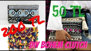 Kendin Yap Bohem Çanta / DIY Bohemian Clutch