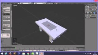tutorial membuat meja di blender