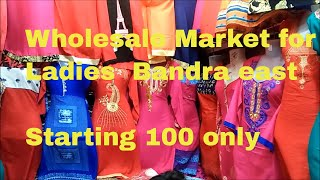 GHAS BAZAAR MUMBAI ! LADIES WHOLESALE MARKET FOR KURTIS , ONE PIECES! TOPS ! GOWNS