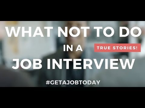 Xxx Mp4 What Not To Do In A Job Interview Tips JOB TODAY 3gp Sex