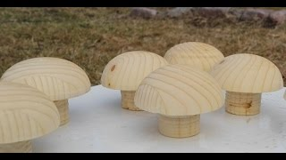 How to make wooden knobs. The hard way.