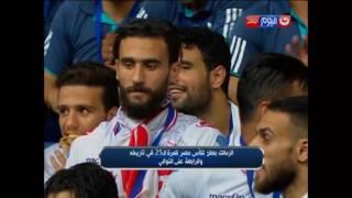 """لحظة رفع """"شيكابالا""""  كأس مصر وفرحة لاعبي الزمالك بالفوز بالكأس"""