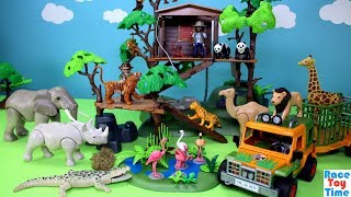 Playmobil Animals Treehouse Playset Build and Play Toys For Kids