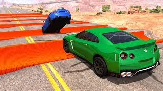 Reverse Speed Bumps Against Cars #2 - BeamNG Drive