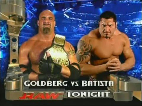Goldberg vs. Batista RAW 3rd & 10th November 2003