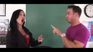 Beautiful teacher Jewels Jade gets blackmailed by Chad White