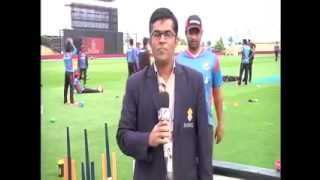 Cricketers Making fun with the journalist