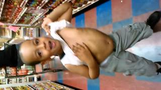 Little boy belly dance