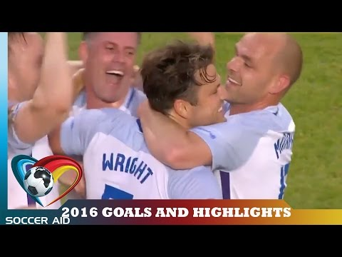 Soccer Aid 2016 Goals and Match Highlights   Soccer Aid
