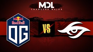 OG vs Team Secret Game 2 - MDL Major 2018: Group Stage - @GoDz @Lacoste