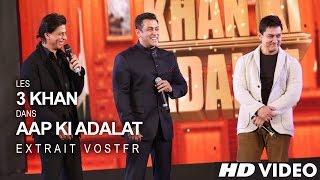Shah Rukh KHAN, Salman KHAN & Aamir KHAN - 21 Years Of AAP KI ADALAT (VOSTFR)
