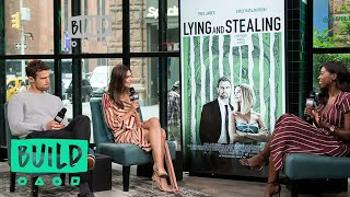 "Theo James & Emily Ratajkowski Talk About The Movie, ""Lying and Stealing"""