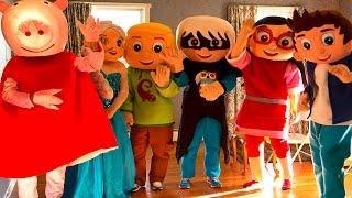 PJ Masks Classroom Episode Art School with Frozen Elsa, Spiderman, Peppa Pig, Romeo In Real Life IRL
