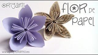 Cómo hacer flor de papel. Nivel: Fácil