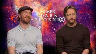 Michael Fassbender & James McAvoy Raw Interview Dark Phoenix