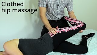 Massage Tutorial: Clothed low back/hip routine with stretching