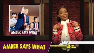 Amber Says What: Trump Booed at World Series, Stephen Miller's Leaked Emails