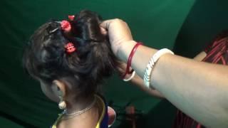 Hair stile  khopa badha