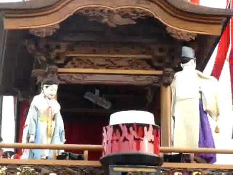 平成22年5月4日 亀崎� �干祭 宮本車 上山の人� � 湯取神事