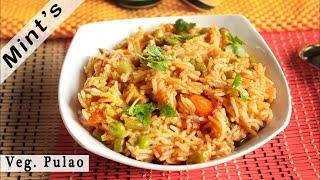 Veg Pulao Recipe in Hindi - Vegetable Pulao in Pressure Cooker - Vegan Indian Recipes - Ep-93