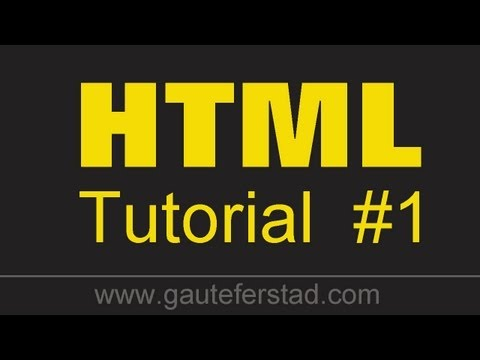 HTML Tutorial 01 Document Structure and Doctype