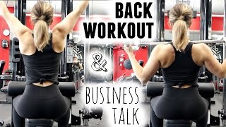 BACK N' BUSINESS | Full Workout + My New Business Plan