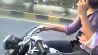 YouTube   Pakistani Girl and Boy enjoying Bike Wheel y
