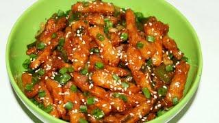 जब बनायेंगे इस तरह से आलु तो मन करेगा सारे मैं ही खालु   Chilli Potato Recipe   Potato Manchurian
