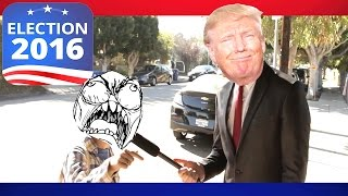 Hillary Clinton Voters GET TROLLED!