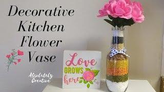 Decorative Kitchen Flower Vase - DIY