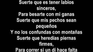 Shakira- Suerte (Lyrics- Letras)