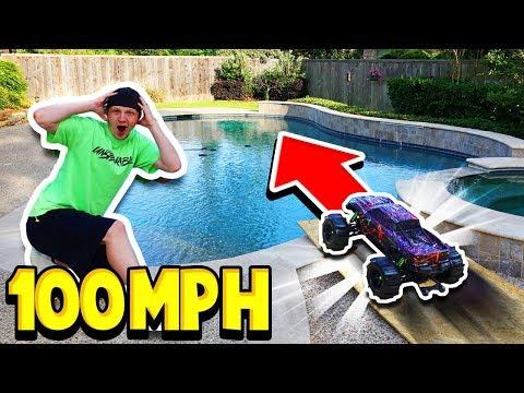 100MPH RC CAR vs MY POOL