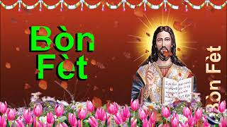 0 147 Haitian Creole Happy Birthday Greeting Wishes includes Jesus  Christ  with Bible by  Bandla
