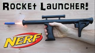 Mini Nerf Rocket Launcher!  (Homemade!) Experimental