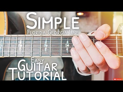 Simple Florida Georgia Line Guitar Lesson for Beginners  Simple Guitar  Lesson #504