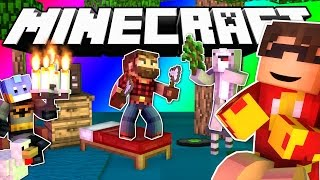Minecraft Do Not Laugh | ROSS' RESTAURANT AND SKY'S GUMBALL (GAME)
