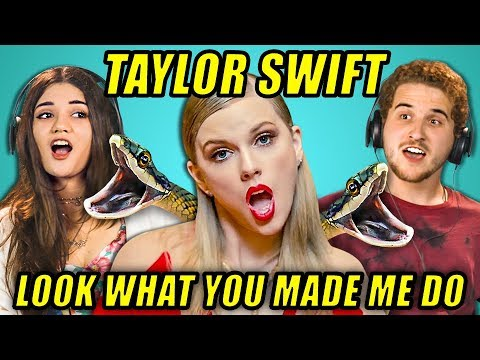 ADULTS REACT TO TAYLOR SWIFT LOOK WHAT YOU MADE ME DO