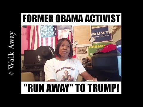 Former Obama Activist Run Away To Trump