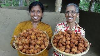 Village Food ❤ Crispy Potato and Semolina Balls prepared by Grandma and Daughter | Village Life