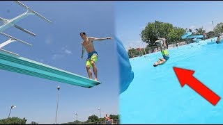 WORST DIVING BOARD FAIL EVER!!