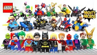 LEGO Mighty Micros DC & Marvel Superheroes Complete Series 3 w/ Batman Spider-Man Thor & Joker