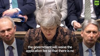 Theresa May reveals EU nationals won