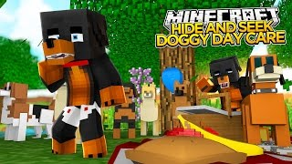 Minecraft - HIDE AND SEEK - DOGGY DAYCARE - Baby Max & Donut the Dog